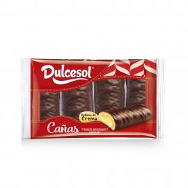 Cañas cacao y crema 4u