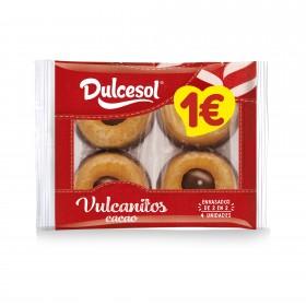Vulcanitos cacao 4u