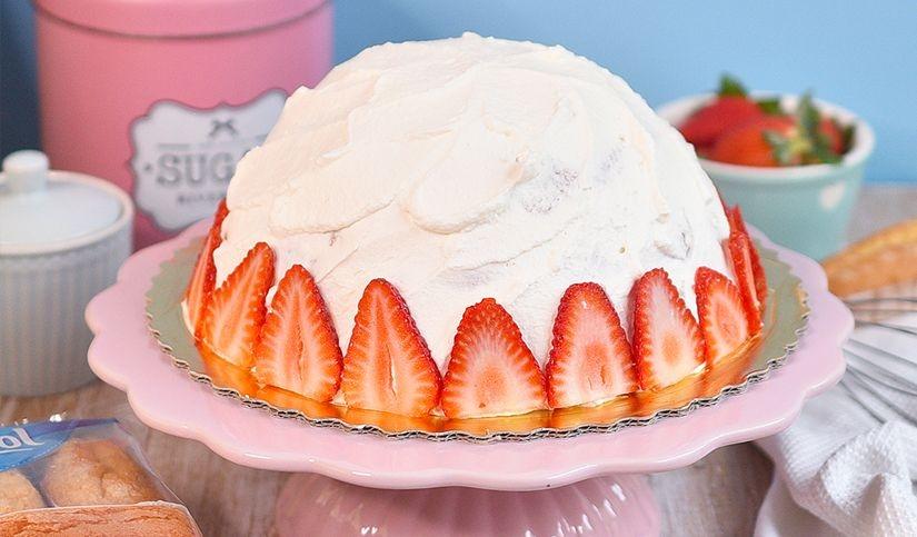 Tarta fresa y nata